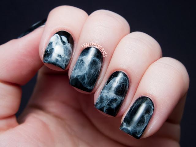 Gel Marble Nails Tutorial