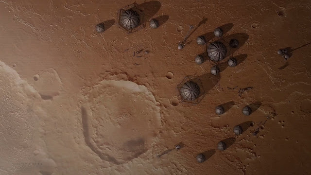 Mars colony - image from The Expanse
