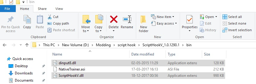 How to install Scripthook V and Scripthook V dotnet in Grand