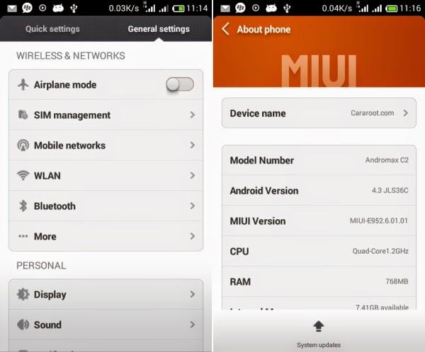 Gambar ROM Xiaomi MIUI v5 Smartfren Andromax G2 AD681H 2