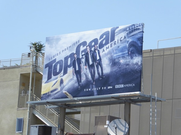 Top Gear America series launch billboard
