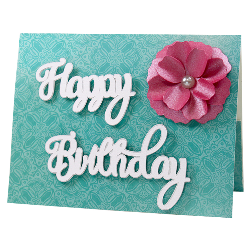 jmrush designs happy birthday flower gift card pocket