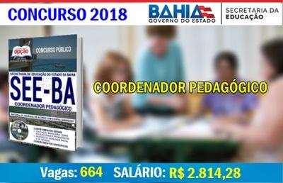 Concurso SEE-BA 2018 Coordenador Pedagógico