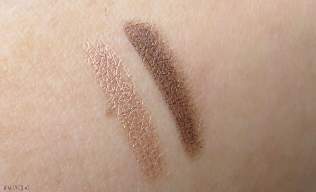 avis vitry maquillage lov'in eyes swatch marron glacé brun irisé