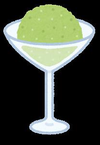 シャーベットのイラスト(緑)