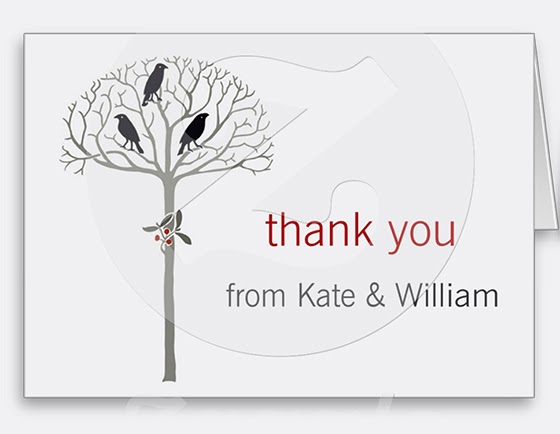 Bramblewood: Rook and Holly Custom Thank You Note Cards