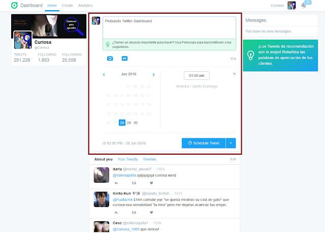 Twitter-dashboard-programar-tweets