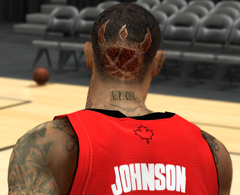 NBA 2K Amir Johnson Raptors Logo Hair Mod