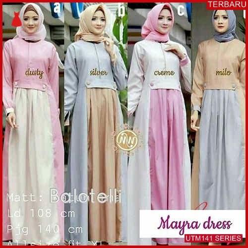 UTM141M99 Baju Mayra Muslim Dress UTM141M99 08D | Terbaru BMGShop