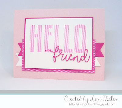 Hello Friend card-designed by Lori Tecler/Inking Aloud-stamps from The Stamp Market