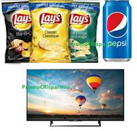 """Logo Vinci 10 TV Sony 49"""" Bravia con Lay's e Pepsi"""