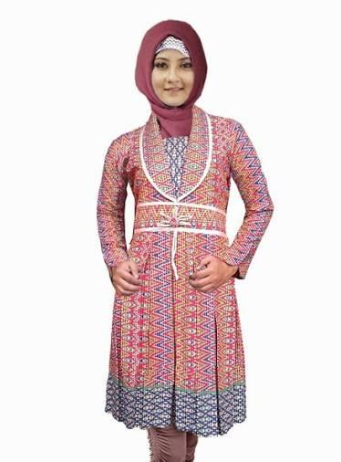 10 Model Atasan Batik Wanita Muslimah 2020
