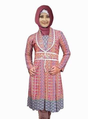 model atasan batik wanita muslimah elegan