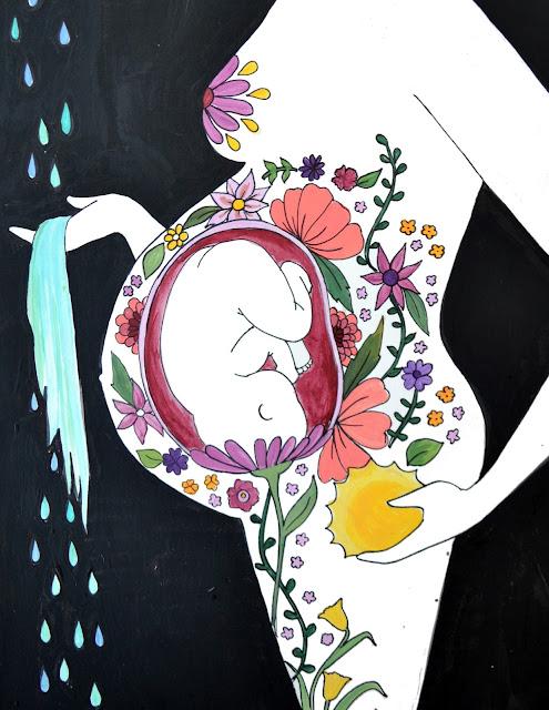 catie atkinson spiritysol birth art pregnancy art