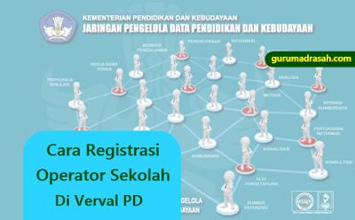 Cara Registrasi Operator Sekolah Di Verval PD