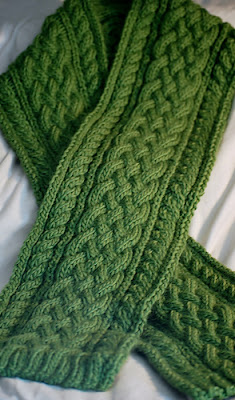 cabled scarf from Deborah Lawless http://www.ravelry.com/patterns/library/celtic-braid-scarf