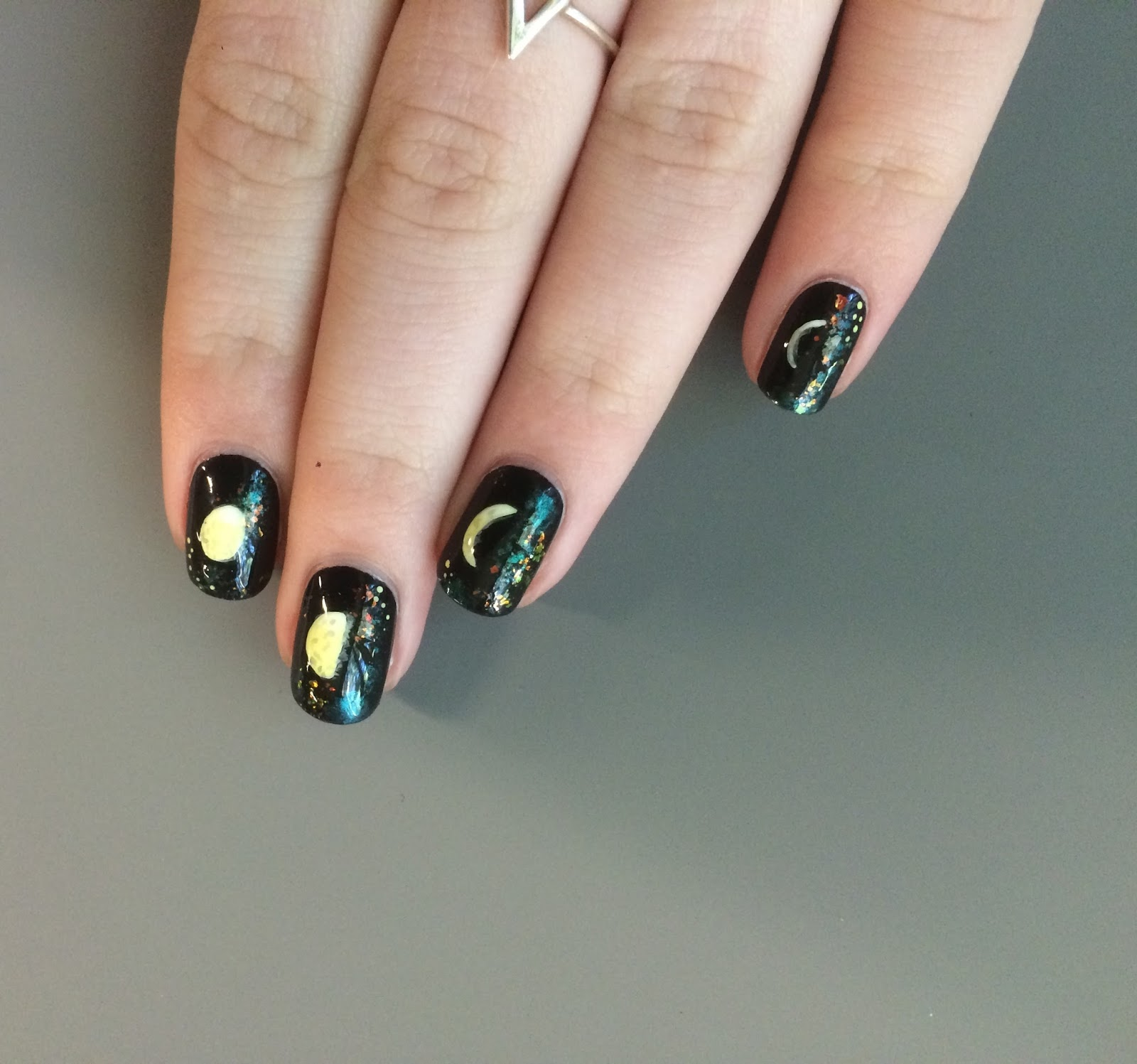 See 12 Phases Of The Moon Cycle I Added Some Sparkle In Background To Mimic Various Stars Galaxy Still Getting Use Having Short Nails