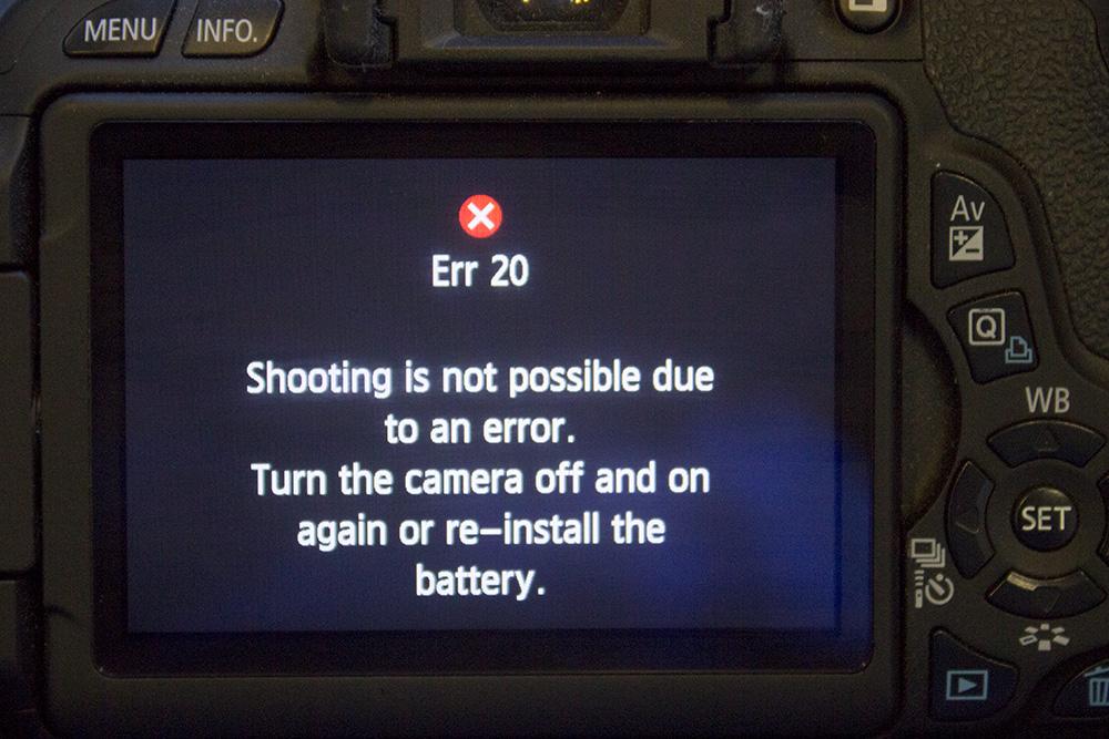 Penyebab Error 30/20 serta Mengatasi pada Kamera Canon