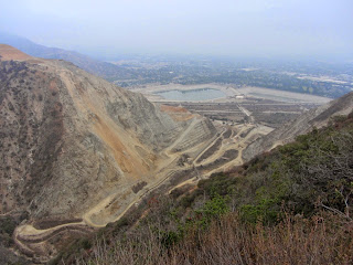 View southeast from Van Tassel Ridge Trail toward Vulcan's Azusa Rock quarry