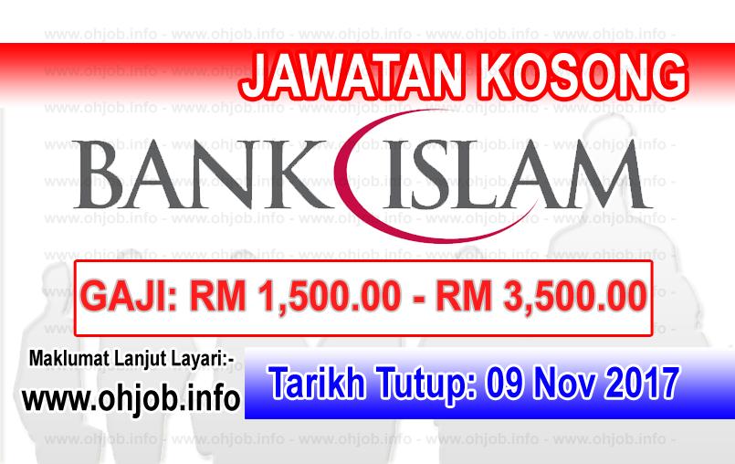 Jawatan Kerja Kosong Bank Islam Malaysia Berhad logo www.ohjob.info november 2017