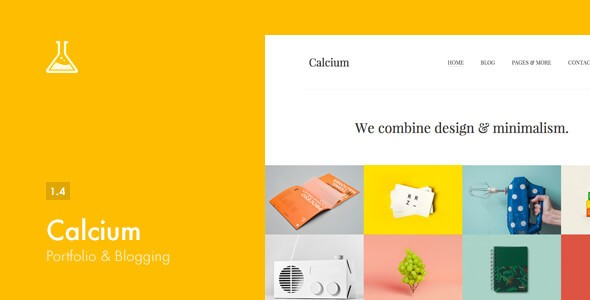 Calcium Minimalist Portfolio Responsive WordPress Themes