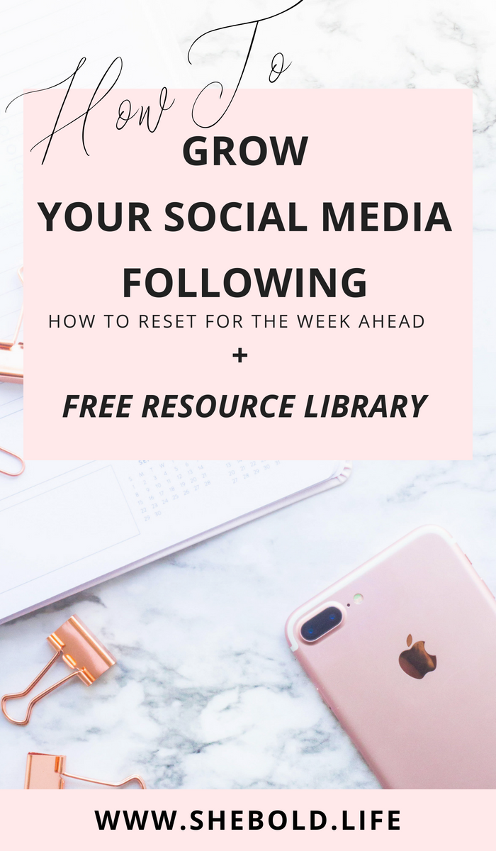 How to grow your social media following