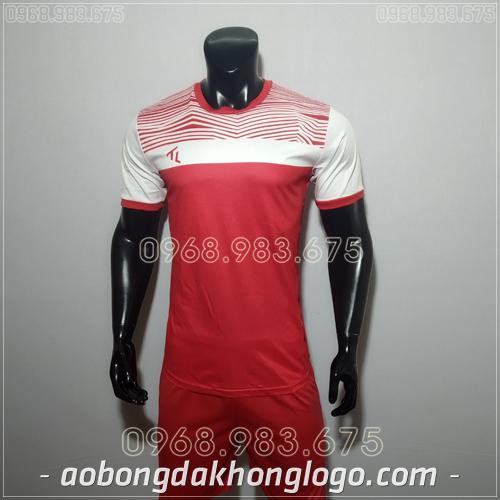 Áo bóng đá không logo TL Riyad màu đỏ