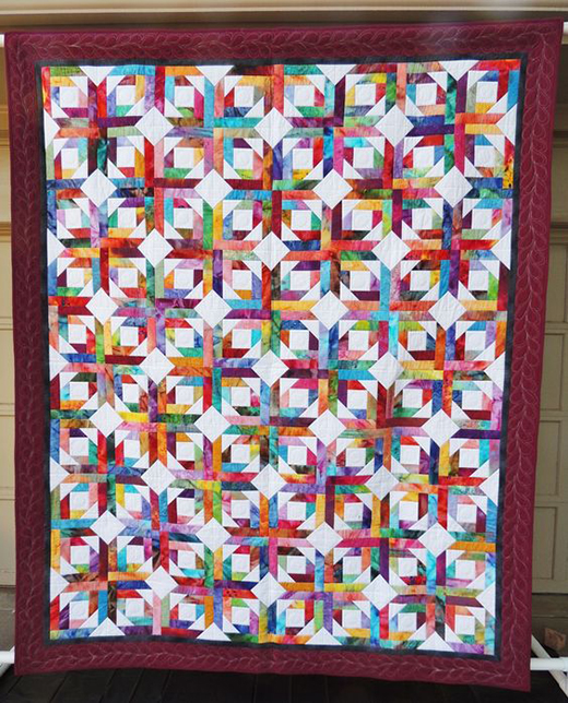 Pineapple Blossom Quilt Free Pattern designed by Bonnie Hunter of Quilt Ville