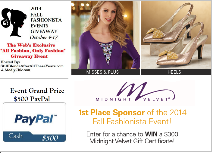 fall fashionista events giveaway