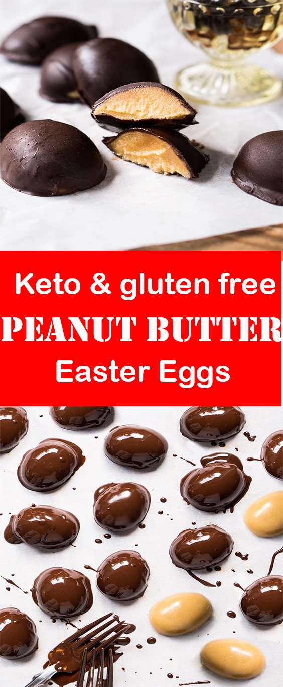 Keto Chocolate Peanut Butter Easter Eggs