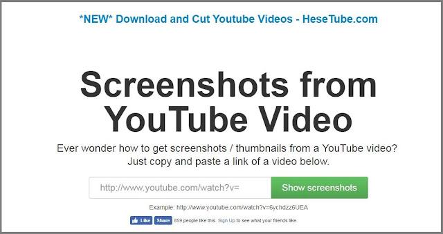 موقع يسمح لك بأخذ صورة من فيديو على اليوتيوب دون تحميله