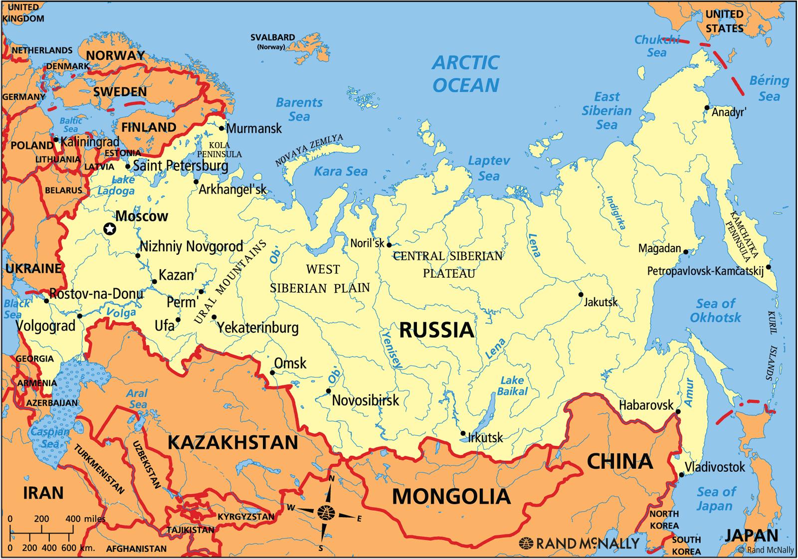 Rusya dünyanın en büyük ülkesidir