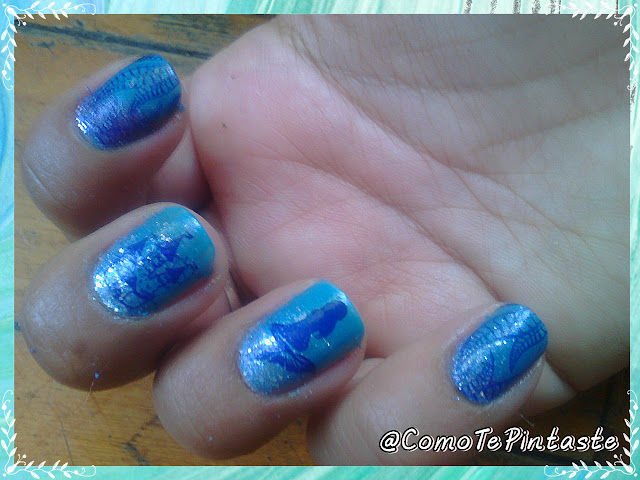 nail art ariel princesas disney
