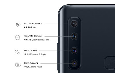 Image result for galaxy a9 four cameras