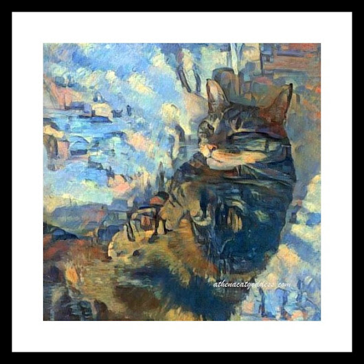 Caturday Art: Seaside & Starburst Dreams
