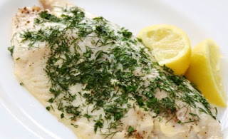 Tilapia baked with fresh herbs
