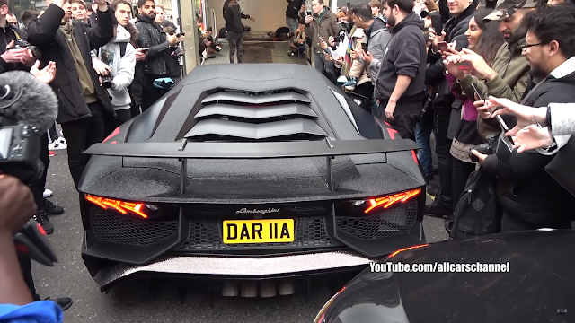 2 Million Swarovski Crystals Lamborghini Aventador SV Causes Chaos in London | YouTube Video | LUXURY | XIT4U MEDIA