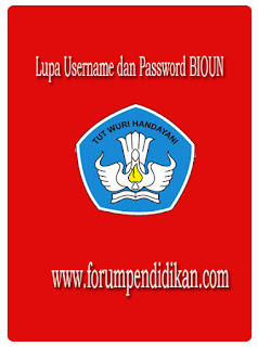 Lupa Username dan Password BIOUN