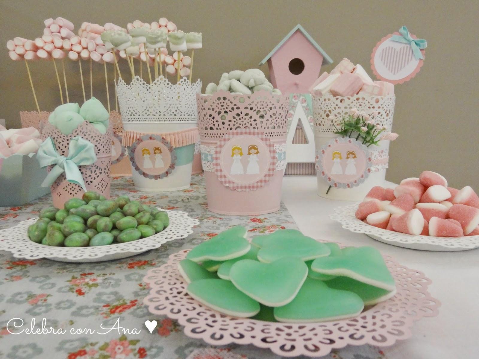 Celebra con ana compartiendo experiencias creativas - Decoracion de mesa para comunion ...