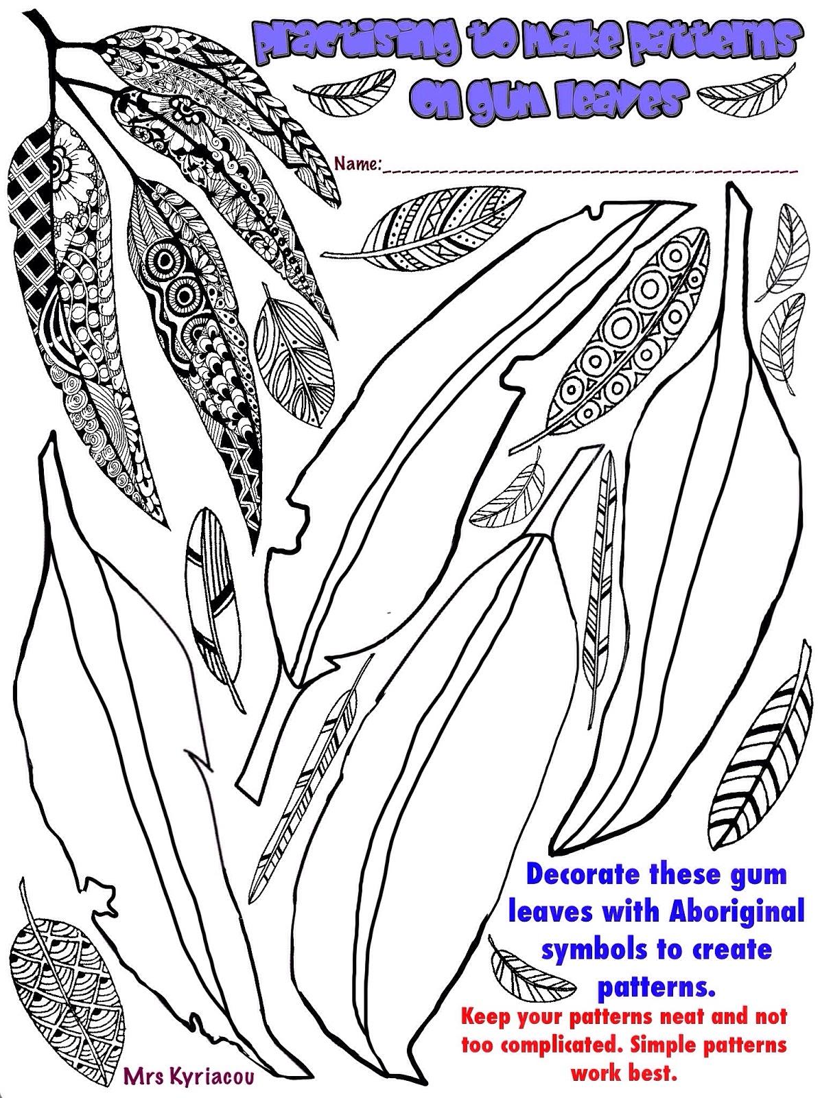 Aboriginal Gum Leaf Artwork