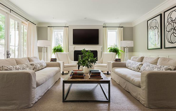 living room with two couches cottage and vine client inspiration the tale of two sofas 21583