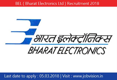 BEL ( Bharat Electronics Ltd ) Recruitment 2018 | Sr Dy General Manager Posts