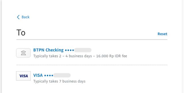 Pilihan rekening tujuan Jenius (Rekening utama & e-Card VISA), Transfer Paypal ke Jenius, masbobz.com, transfer dari paypal ke jenius, transfer uang dari paypal ke jenius, cara transfer paypal ke jenius