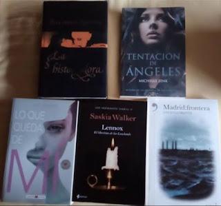 La historiadora, Tentación de ángeles, Lo que queda de mí, Lennox, Madrid:frontera