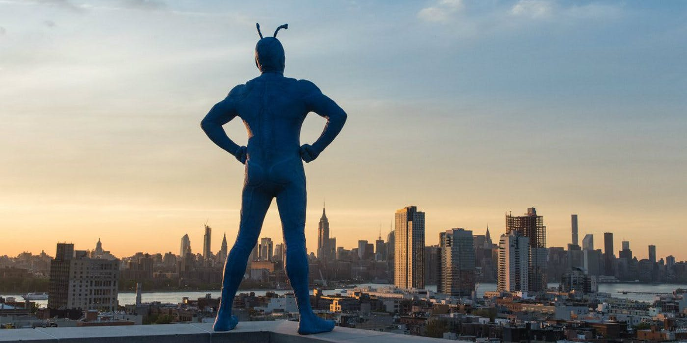 Poster promocional de The Tick de Amazon Video