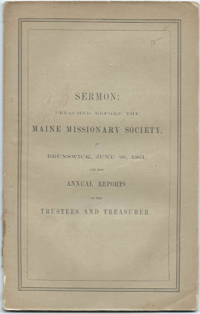 List of Life Members of Maine Missionary Society recognized in 1861