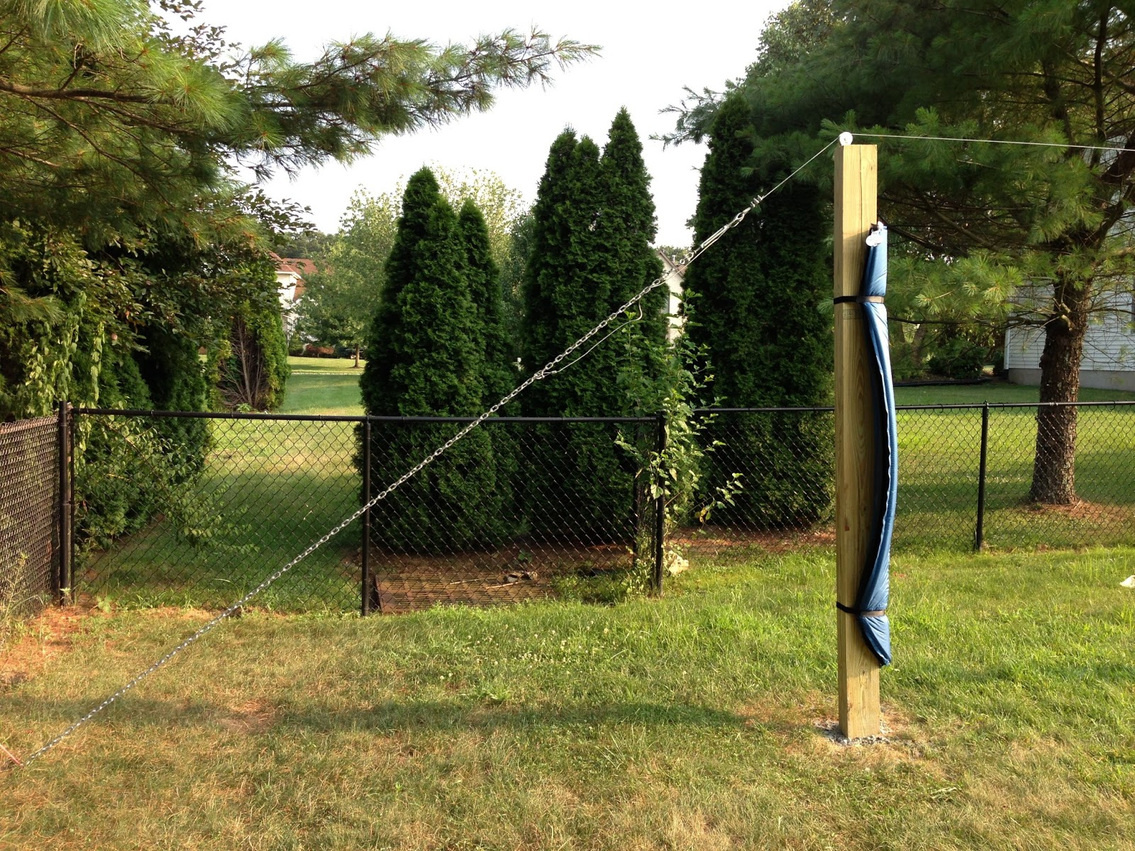 how to anchor zipline to my house diy