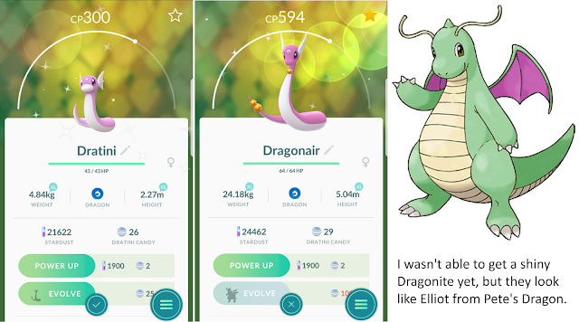 Shiny Dratini, Dragonaire, Dragonite