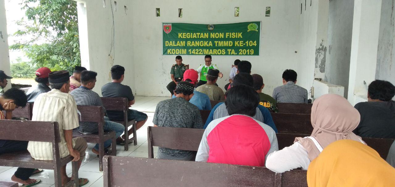 TMMD Kodim 1422/Maros Laksanakan Penyuluhan Pertanian