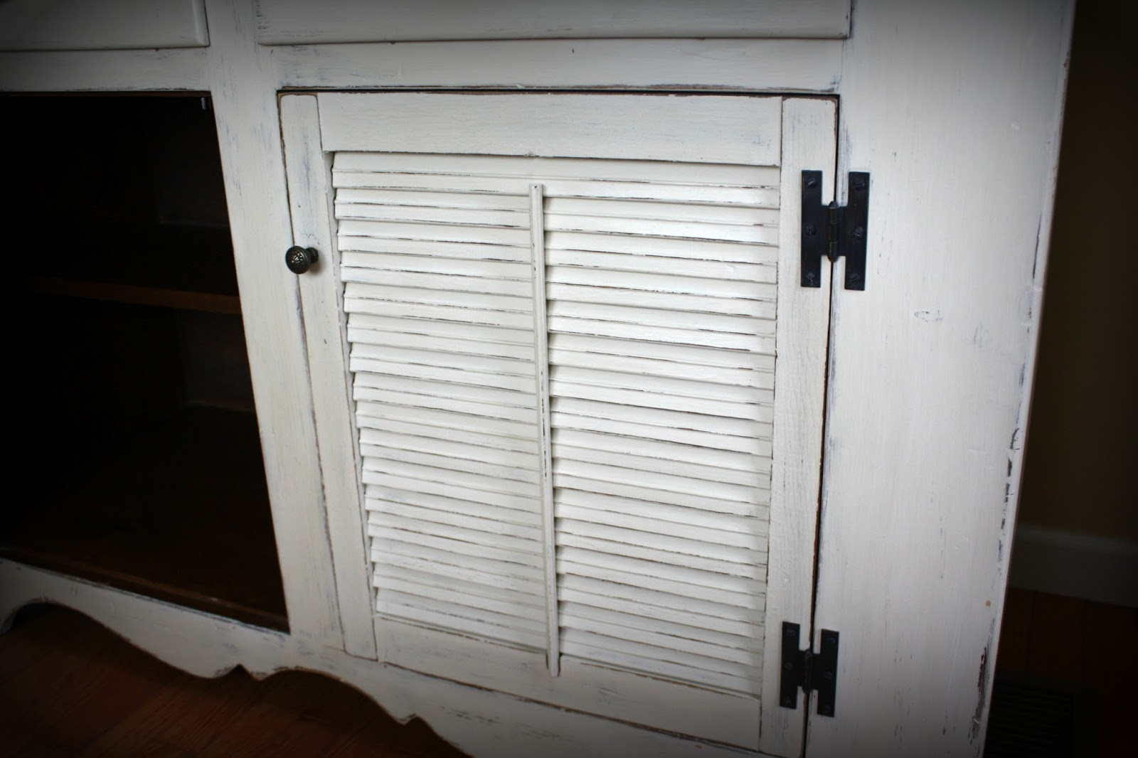 Louvered door